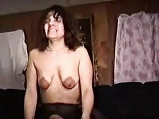 Nipples Brunette Creampie video: Dark nippled slut wife takes a bbc creampie