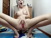 romanian cam-slut with fake breasts