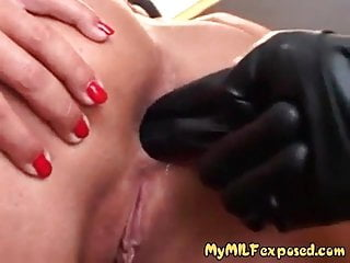 .My MILF Exposed Rough anal for sexy milf in stockings.