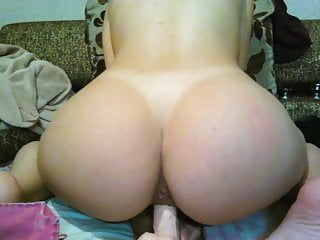 Brunette Big Ass Webcam video: BEST ASS EU catched on cam with toy - Extra THICC!