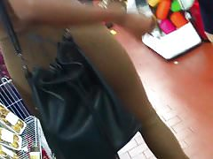 Cum on Ass Negra Mais Linda Gozada em Publico