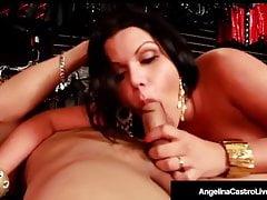 Napalona Latina Angelina Castro Fucks Black Cock W sklepie dla dorosłych