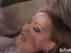 La calda moglie Lulu Jung prende un enorme cazzo nero nel culo
