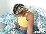 PropertySex - Smoking curvy blonde fucks her roommate