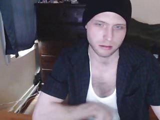 Huge cock athletic white boy jerking on webcam