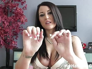 Femdom Pov Handjob video: I will rub one out for you JOI