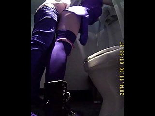 Caught couple fucking in public restroom