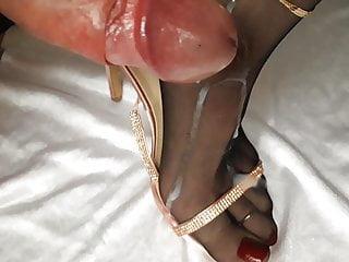 Big Cock High Heels Mature video: Feet Nylons Cum