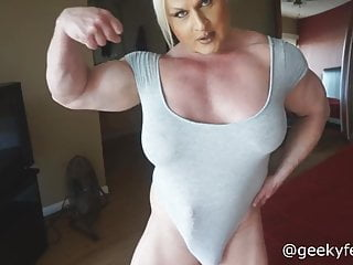 muscle woman with a muscle cock
