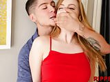 Young bitch Dolly Leigh gets proper treatment from stepbro