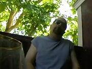 Me smoking, outside, teasing panty fetish