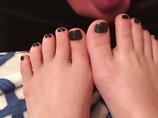 Foot Fetish Cum On Feet Hd Videos video: Cum on feet black toes