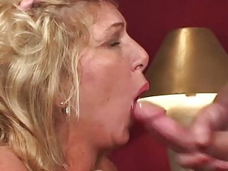 Matures Grannies xxx: Mature Blonde Knows how to Ride a Hard one