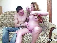 Petite Step-Son Seduce Pregnant mom to Fuck