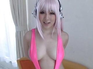 超级Sonico日本cosplayer