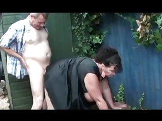 Grandma and grandpa outdoor