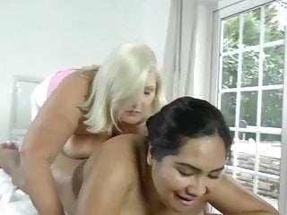 Massage Tits Foot Fetish video: LACEYSTARR - Lesbian Massage with Amyka Lee