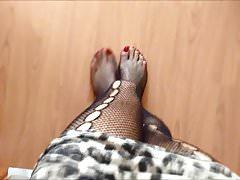 Segretario Ufficio Selfie Clips Gambe e piedi sexy