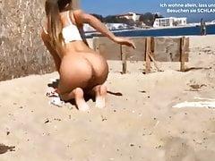 Osterreichisches Paar Fickt am Strand