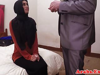 Arabic muslim using cowgirl whilst in hijab