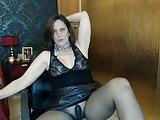 Sizzling Video-sexyvega in black pantyhose