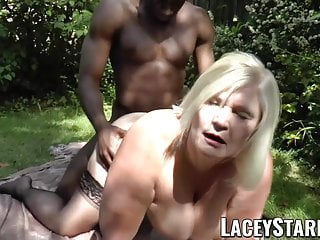 LACEYSTARR - Lustful granny begging for young black cock