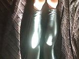 Wetlook leginggs and wetlook pantyhose toes
