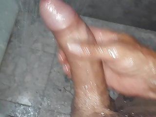 stroking my cock in the shower b4 jumping on cam to wankHD Sex Videos