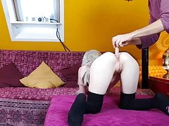 Small Teenage Prepared For Ass Fucking Penetration!