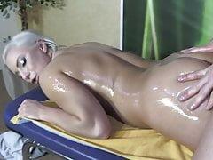 Oily Blonde Escort Fucking