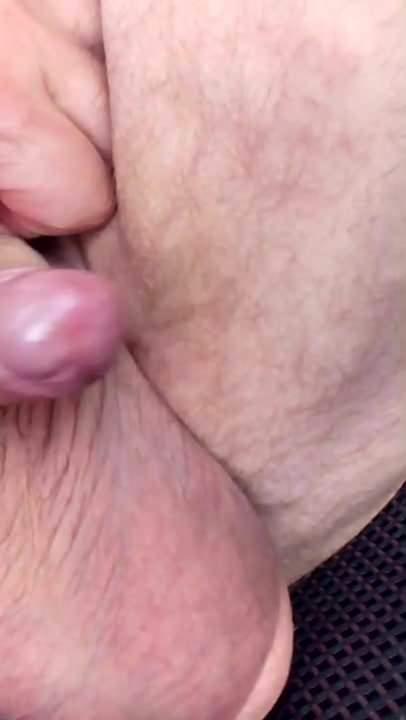 Blonde Milf Ball saugen