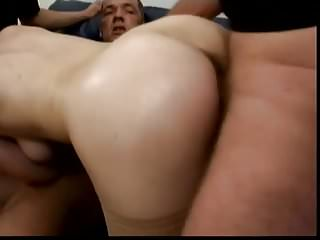 Cute German Redhead In Dp Gangbang