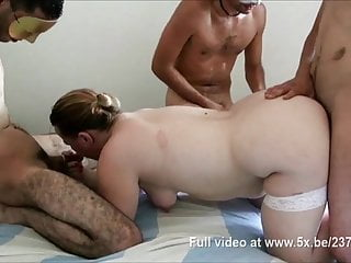 Helen gangbanged while her husband is watching