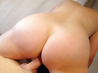 Amateur couple fuck on their bed.