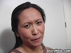 Kitty Langdon – sexy Asian milf sucks big black dick
