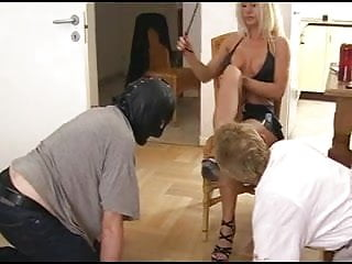 Slaves Worship Hot Blonde Mistress