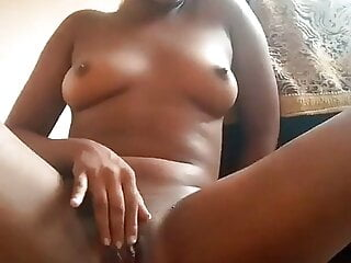 Playing with her pussy