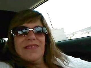 German Wife Flashing Tits In Car 2
