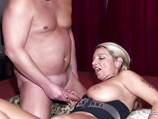 German Mature Surprises two Guys for MMF Threesome