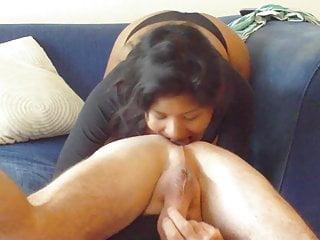 Ass rimming male ass juice tasting slut...