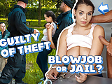 LAW4k. Patrol catches adorable thief Sofia Lee and fucks her