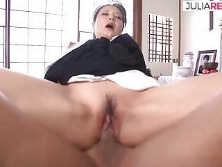 JAV geisha fucking with her partner