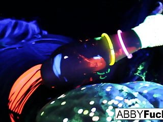 Black Light Rainy Night with Abigal Mac and Ava Addams