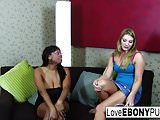 Interracial lesbian action with Aurora Snow & Carmen Hayes