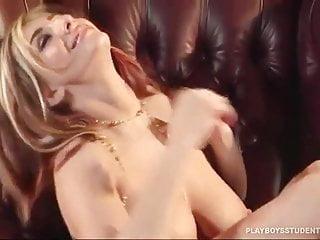 September Carrino - Shiny Gold Bikini