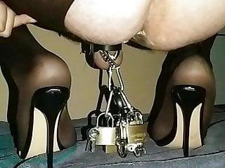 Sissy sub black mules 15...