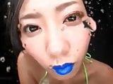 Asian Spitting and Tongue Fetish