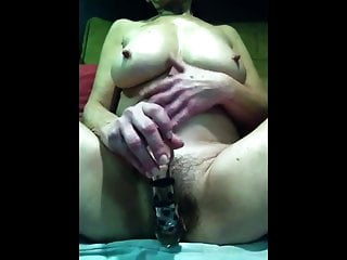 And large tits provokes via cam...