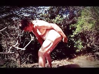 Transvestite man cucumber foret outdoors 13...