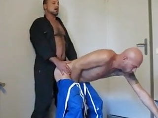 Two hot horny guys fucking at work